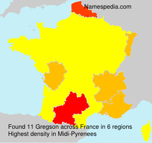 Surname Gregson in France