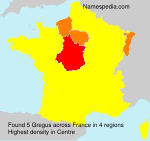 Familiennamen Gregus - France
