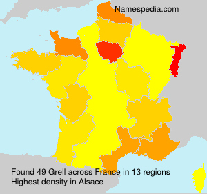 Surname Grell in France