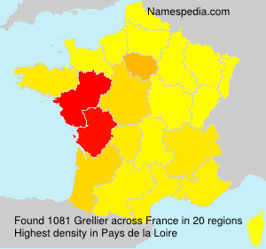 Surname Grellier in France