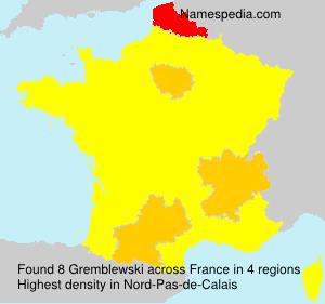 Surname Gremblewski in France