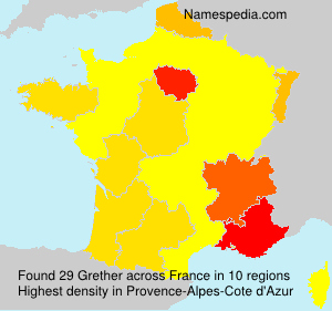 Surname Grether in France