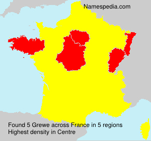 Surname Grewe in France