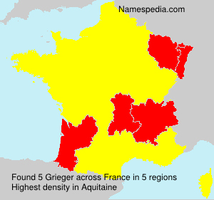 Surname Grieger in France