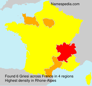 Surname Griesi in France