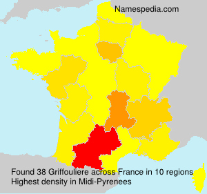 Surname Griffouliere in France