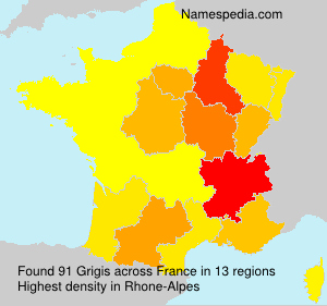 Surname Grigis in France