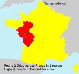 Surname Grigo in France