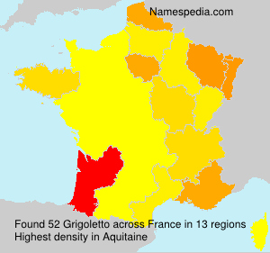 Surname Grigoletto in France
