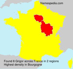 Surname Grigor in France