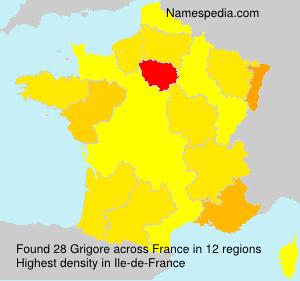 Familiennamen Grigore - France