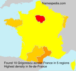 Familiennamen Grigorescu - France