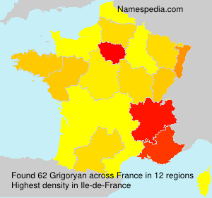 Surname Grigoryan in France