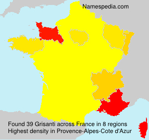 Surname Grisanti in France