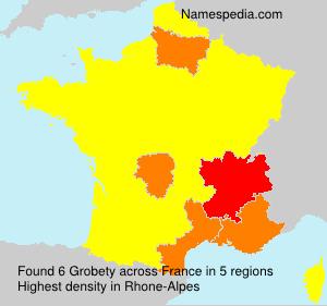 Familiennamen Grobety - France