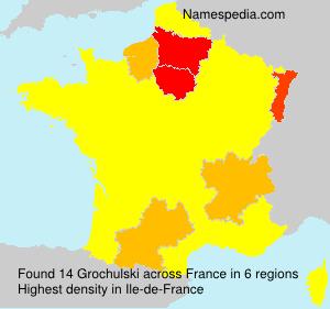 Familiennamen Grochulski - France