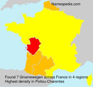 Surname Groenewegen in France