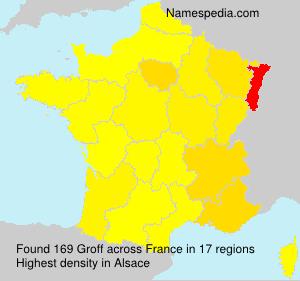 Surname Groff in France