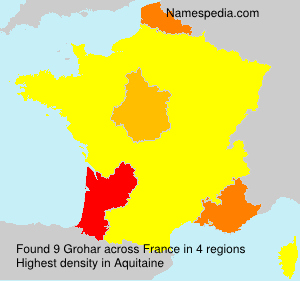 Surname Grohar in France