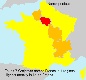 Surname Grojsman in France