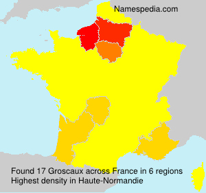 Surname Groscaux in France