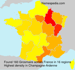 Surname Grosmaire in France