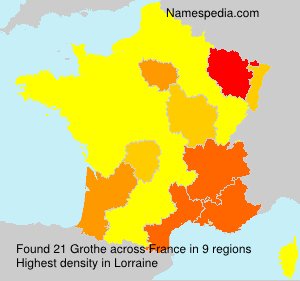 Surname Grothe in France