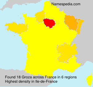 Surname Groza in France