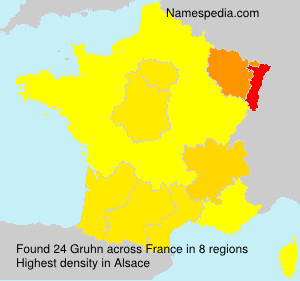 Surname Gruhn in France