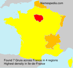 Surname Gruia in France