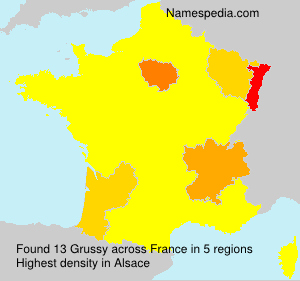 Surname Grussy in France