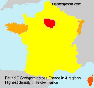 Surname Grzegorz in France