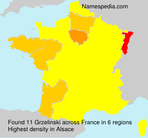 Surname Grzelinski in France