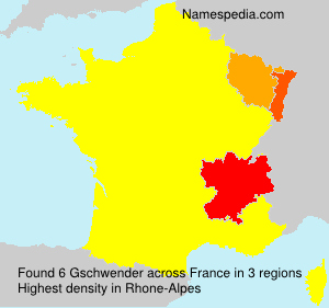 Familiennamen Gschwender - France