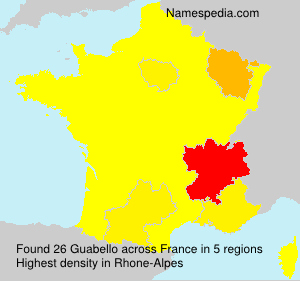 Surname Guabello in France