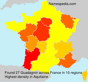 Familiennamen Guadagnin - France