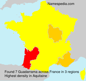 Surname Guadarrama in France