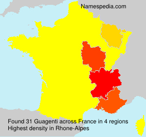 Familiennamen Guagenti - France