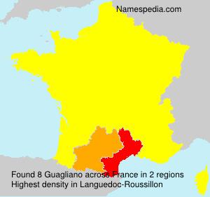 Familiennamen Guagliano - France