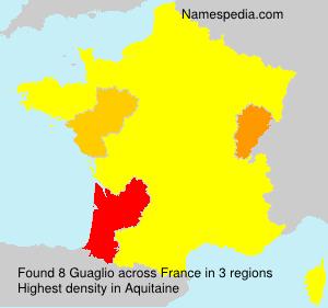 Surname Guaglio in France