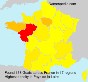Surname Guais in France