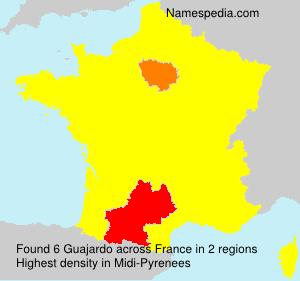 Surname Guajardo in France