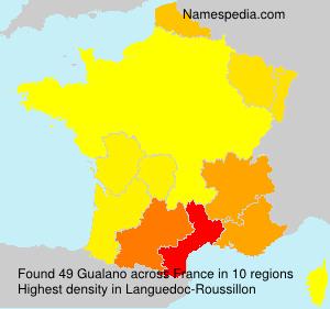 Familiennamen Gualano - France