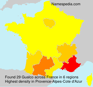 Surname Gualco in France