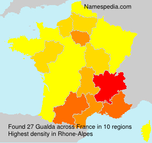 Surname Gualda in France