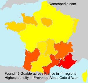 Familiennamen Gualde - France