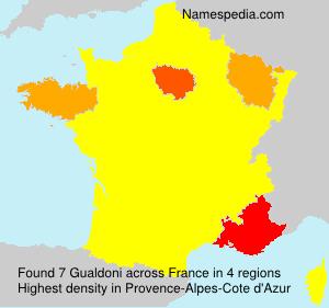 Surname Gualdoni in France