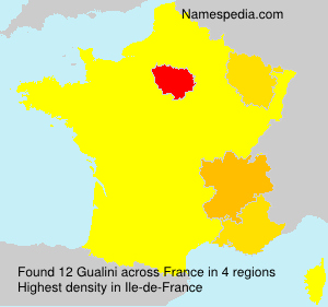Surname Gualini in France