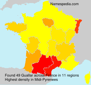 Surname Guallar in France