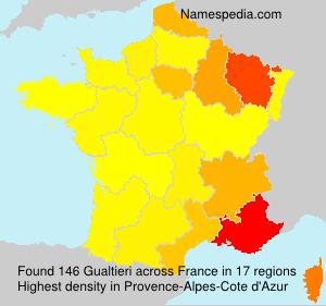 Surname Gualtieri in France